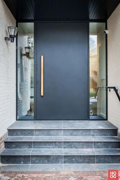 hotel front Incredibly good ideas to experiment wi - hotel Modern Entrance Door, Modern Exterior Doors, Exterior Doors With Glass, Modern Front Door, Modern Entryway, Front Door Entrance, House Front Door, Glass Front Door, House Doors