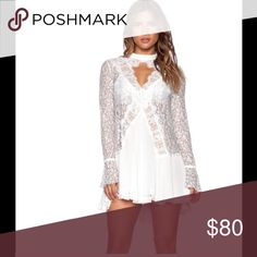 NWT free people tunic dress New with tags tunic dress with lace detail Free People Dresses
