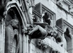 Gothic Architecture Gargoyles ~ http://lanewstalk.com/the-moody-and-dark-gothic-architecture/