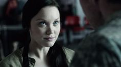 """Laci J Mailey as Jeanne from the TV Show """"Falling Skies""""."""