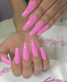 If you are obsessed with Pink Nails then you need to check these out! We have 55 of the Best Pink Nails for All of these nails are pink and beautiful. Pink Acrylic Nail Designs, Pink Acrylic Nails, Pink Acrylics, Gorgeous Nails, Pretty Nails, Amazing Nails, Barbie Pink Nails, Pink Nail Colors, Nail Pink