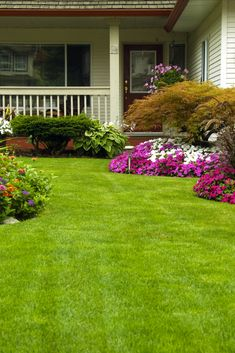 Sometimes even a badly kept yard that has some sort of charm and interest to it works better than a boring one [Front Yard Ideas, Front Yard Landscaping Ideas, Garden Ideas DIY, Garden Ideas Front Yard Landscapes, Flower Bed Ideas In Front Of House, Porches And Facades, House Exterior Ideas]