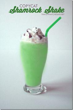 Shamrock Shake Copy Cat Recipe!  So delicious!!  #recipes #stpatricksday