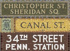 A Painstakingly Illustrated Catalog of Manhattan's Subway Tile Mosaics