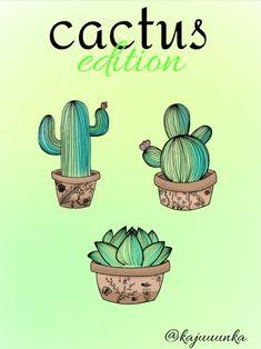 Cactus edition 🌱 #drawing #idea #outline #plant #succulent #cactus #summer