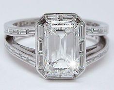 Diamond baguette halo