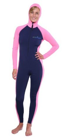 Women's Swimwear Bodysuits - Women Sun Protection Full Body Swimsuit Stinger Suit Dive Skin Hooded UPF50 -- You can get additional details at the image link.