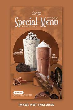 Food Graphic Design, Food Poster Design, Food Design, Social Media Banner, Social Media Design, Drink Menu Design, Professional Business Card Design, Food Packaging Design, Print Layout