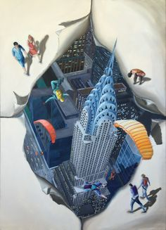 surrealismo, dimensiones , new york , pintura
