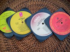 When I saw Lou Rawls live among the collection I'm not sure I can approve of making coaters of these! Vinyl Record Display, Vinyl Record Art, Vinyl Record Storage, Vinyl Art, Vinyl Records, Cd Crafts, Vinyl Crafts, Home Crafts, Vinyl Record Projects