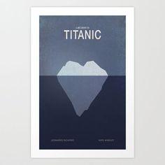 Star-Crossed Iceberg Minimalist Movie Poster