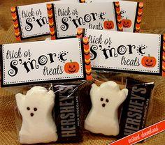 Halloween Smores Bag Topper PRINTABLE 2 Size by lisamariesadesign, $5.00