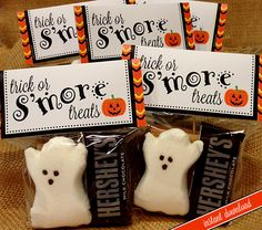 Halloween Smores Bag Topper PRINTABLE 2 Size by lisamariesadesign, $5.00
