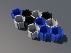 Hexagonal container by FrenkeeS - Thingiverse 3d Printer Designs, 3d Printer Projects, Modele Impression 3d, Useful 3d Prints, 3d Printing Diy, 3d Printed Objects, 3d Cnc, 3d Cad Models, Modelos 3d