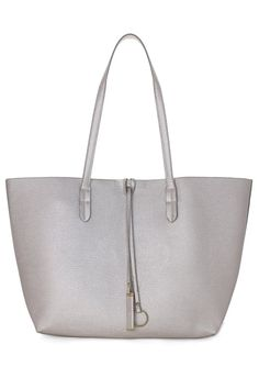 Twinset Tote Bag in Silver Pink - Bags - Goods - Retro, Indie and Unique Fashion