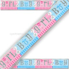 GENDER REVEAL BABY SHOWER PARTY BANNER/UNISEX BABY SHOWER DECORATIONS SUPPLIES
