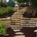 Love these steps & retaining walls