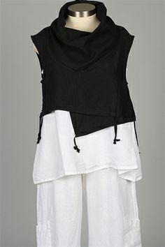 d0437b766cc Bryn Walker - Pennie Vest - Black Black Linen