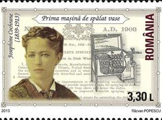 Stamp of Romania <> Romania honors Josephine Garis Cochrane (March Ashtabula County, Ohio - August was the inventor of the first commercially successful hand-powered dishwasher which was constructed together with mechanic George Butters. Scolds Bridle, Modern Dishwashers, Les Inventions, Ashtabula County, The Inventors, We Can Do It, Women In History, Famous Women, Change The World