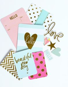 Heidi-Swap-Gold-Foil-Journalling-Cards-Project-Life