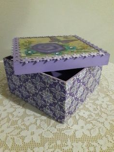 Caixa Presente Borboleta Lilás - Box Artesanato