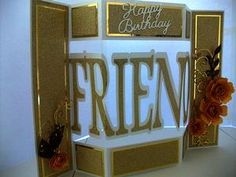 Shutter Card Tri Fold Friend Themed on Craftsuprint - View Now!