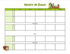 Modèles d'horaires livres