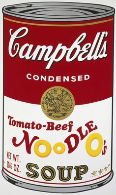Campbell's Soup II: Tomato-Beef Noodle O's  | Andy Warhol, Campbell's Soup II: Tomato-Beef Noodle O's  (1969)