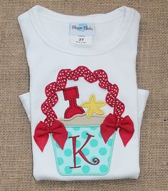 Personalized Sand Bucket Ruffle Shirt by TadpolesandTutusBout, $29.00