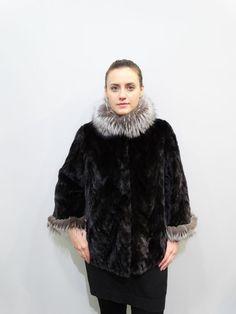 Fur JacketFox trimReal Fur JacketMink JacketReal by FilimegasFurs Black Fur Jacket, Fur Clothing, Short, Fur Coat, Plus Size, Sleeves, Model, Jackets, Coats
