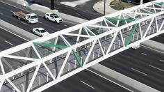 A unique project in more ways than one! The R2P pedestrian bridge in Adelaide. #tensilearchitecture #pedestrianbridge #designandconstruction #tensilemesh #xtend Stainless Steel Strip, Architectural Engineering, Pedestrian Bridge, Mesh Screen, Beautiful Architecture, Unique, Engineering, Building