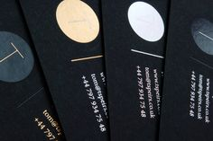 Coloured foiled business cards