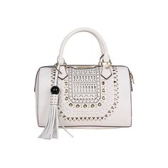 6c2ed7933114 Women s Nicole Lee Anouska Braided Intricate Cutout Design Boston Bag (615  CNY) ❤ liked on Polyvore featuring bags