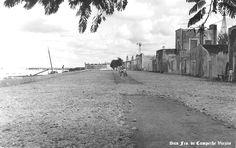 Construccion del Malecon Justo Sierra por barrio San Roman en 1941 en San Fco. de Campeche , Campeche Mexico