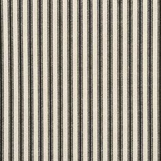 "Ticking Fabric Black 55"" wide.  Price: $15.99"