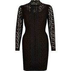 Black lace Victoriana bodycon dress