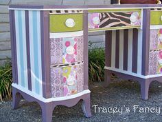 Custom Painted Desk  MADE TO ORDER by TraceysFancy on Etsy, $660.00
