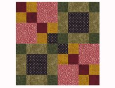 This Antique Tile quilt block pattern has a lot of potential for color and color value variations to help you create a unique quilt.