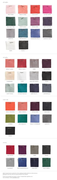Wedding Colors - Match Colors For Bridesmaid Dresses & Wedding Accessories By Season - J.Crew