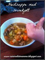 Høstsuppe med svinekjøtt Autumnsoup with pork