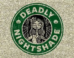 Deadly Nightshade Nightmare Before Christmas Halloween Disney Starbucks Logo Cutting File in Svg Eps Dxf and Jpeg for Cricut & Silhouette Disney Starbucks, Starbucks Logo, Nightmare Before Christmas Halloween, Disney Halloween, Cricut Explore Air, Disney Crafts, Vinyl Crafts, Cricut Ideas, Cricut Craft
