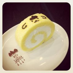 Purin vanilla roll cake by Into the woods cafe ♥ Dessert