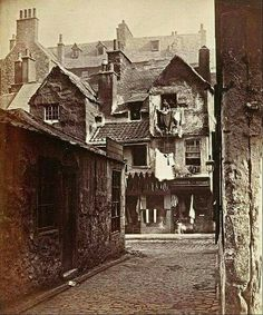 Timber Fronted House Cowgate , Edinburgh - circa 1858