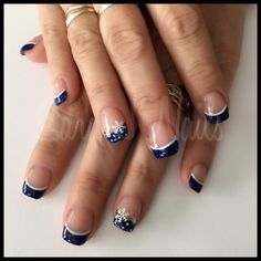 Blue and white acrylic design