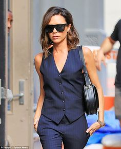 She's got some front! The vest featured a plunging front that revealed a hint of cleavage ...
