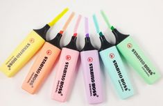 6 Stabilo boss marker marker in pastel colors yellow orange pink purple blue green Planner accessories pins Fasermarker highlighter stationary