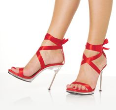 Shop for sexy shoes and boots at Lingerie Diva. Choose from low heels, high heels, stripper shoes, thigh-high boots and more. Red High Heel Shoes, Red Heels, Stiletto Heels, Shoes Heels, Red Stilettos, Red Sandals, Red Pumps, Strappy Heels, Louboutin Shoes