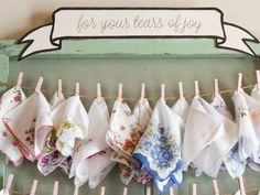 Vintage handkerchiefs for tears of joy