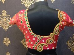 Embroidery Blouse Patterns Elegant And Latest Embroidery Blouse Design Blouse Designs For. Embroidery Blouse Patterns Peacock Design Backneck Blouse F. Pattu Saree Blouse Designs, Blouse Designs Silk, Saree Blouse Patterns, Bridal Blouse Designs, Choli Designs, Lehenga Blouse, Red Saree, Saree Dress, Simple Blouse Designs