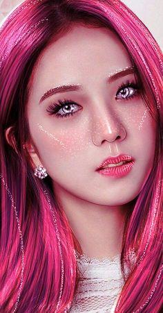 Blackpink Poster, Blackpink And Bts, Black Pink Kpop, Kpop Fanart, Jennie Blackpink, Blackpink Jisoo, Fantasy Girl, Types Of Art, What Is Love